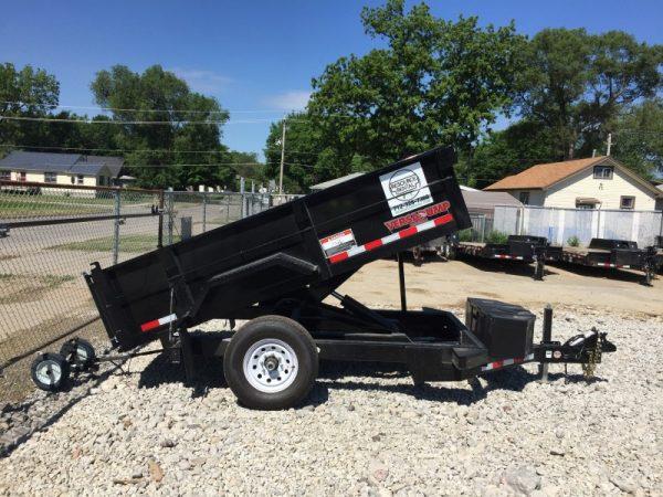 Sa Dump Side X on Tandem Axle Dump Cart